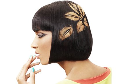 graphic design hairstyle